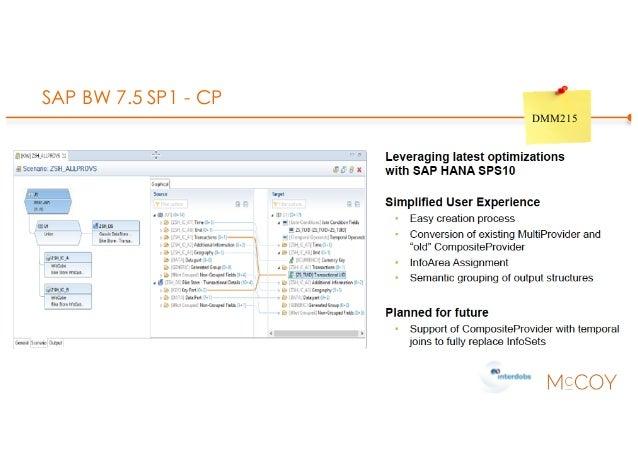 SAP BW 7.5 SP1 - CP DMM215