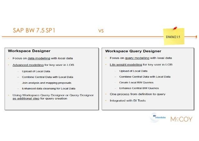 SAP BW 7.5 SP1 vs DMM215