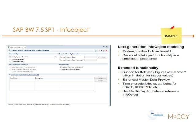 SAP BW 7.5 SP1 - Infoobject DMM215