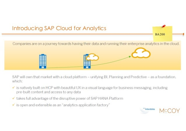 Introducing SAP Cloud for Analytics BA200