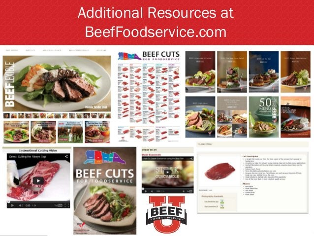 Additional Resources at BeefFoodservice.com