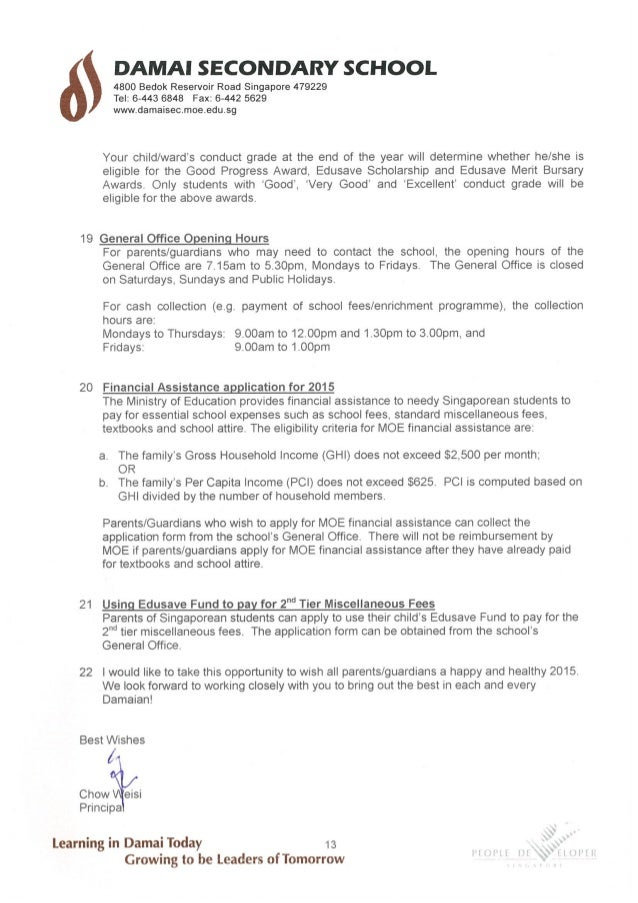 2015 Termly Letter To Parents