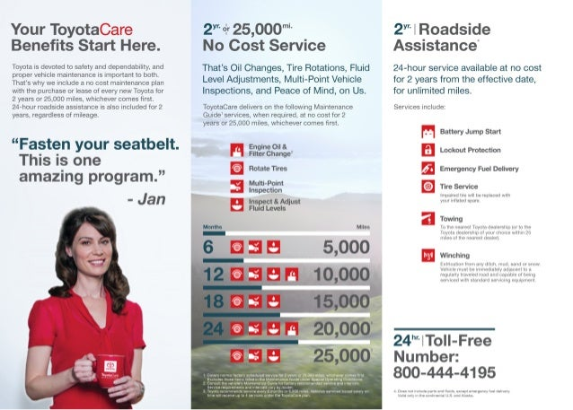 2015 Toyota Care Benefits Details And Offer Los Angeles San Fernando