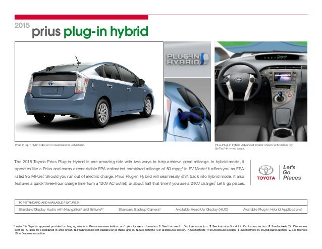 North Hollywood Toyota Service >> 2015 toyota prius plug in hybrid brochure vehicle details ...
