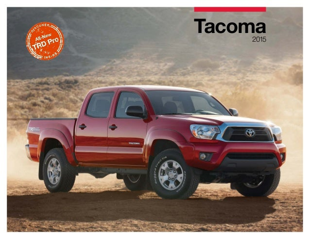 2015 toyota tacoma brochure vehicle details specifications los ange. Black Bedroom Furniture Sets. Home Design Ideas