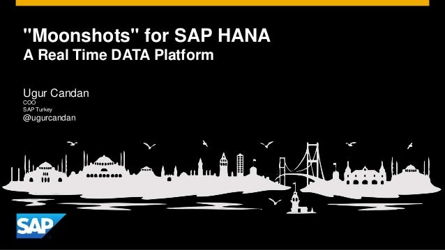 """Moonshots"" for SAP HANA  A Real Time DATA Platform  Ugur Candan  COO  SAP Turkey  @ugurcandan"
