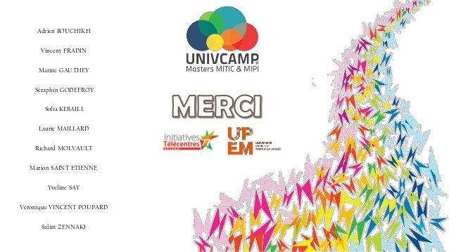 2015 univcamp - vie des télécentres