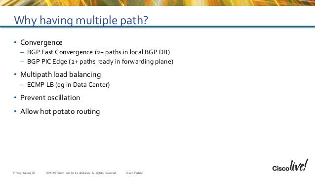 Cisco Live Milan 2015 - BGP advance