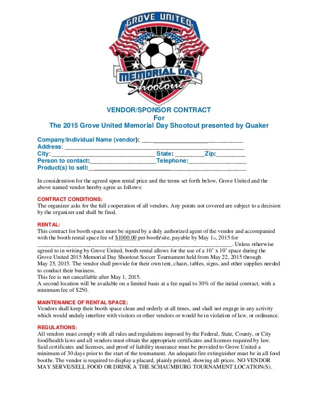 Grove united vendorsponsor contract vendorsponsor contract for the 2015 grove united memorial day shootout presented by quaker company thecheapjerseys Images