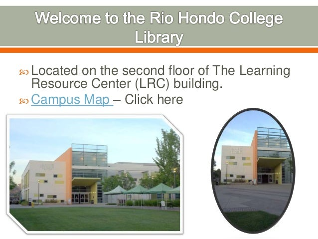 2015 Library Virtual Tour Rio Hondo College