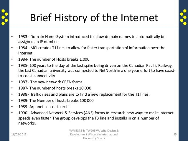 """an introduction to the history of the internet revolution We are currently in what is known as the internet revolution,  and by 1800,  almost 400 years after the introduction of the printing press, the  type printing """"' was one of the most important inventions in human history."""