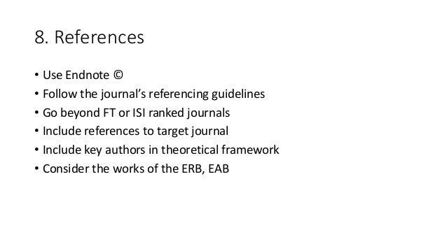 Peer reviewed references