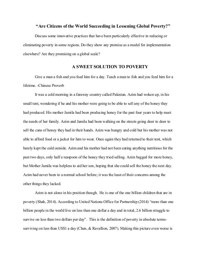 Global poverty essay