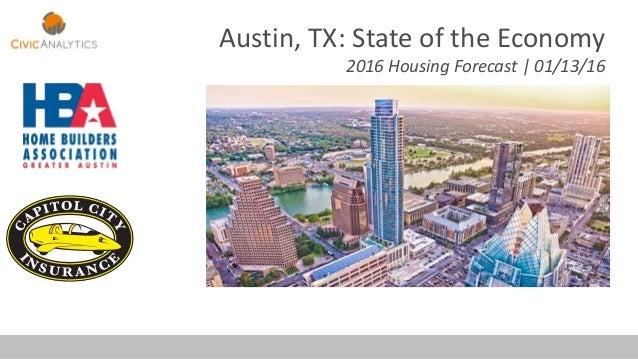 Austin, TX: State of the Economy 2016 Housing Forecast | 01/13/16