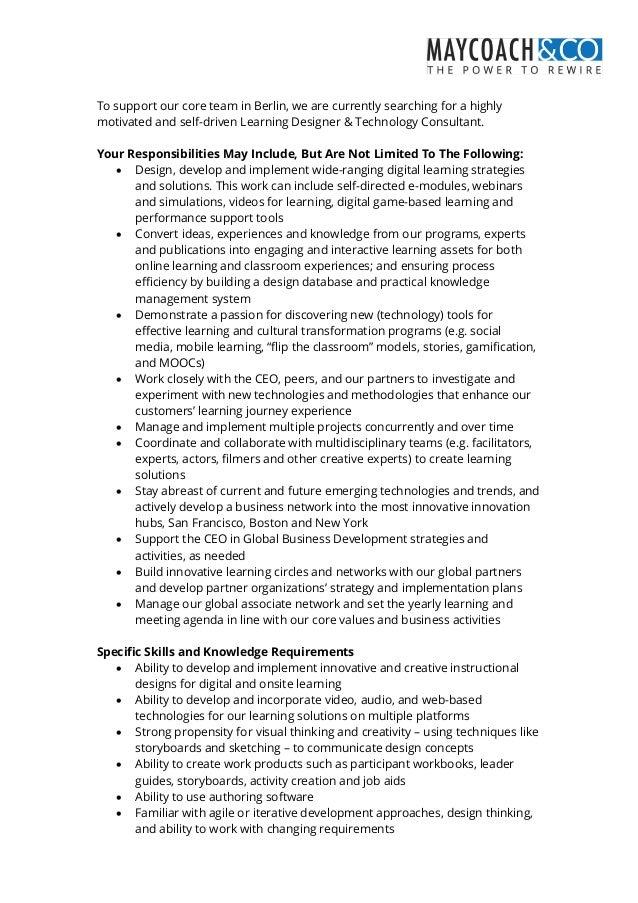 instructional designer job responsibilities
