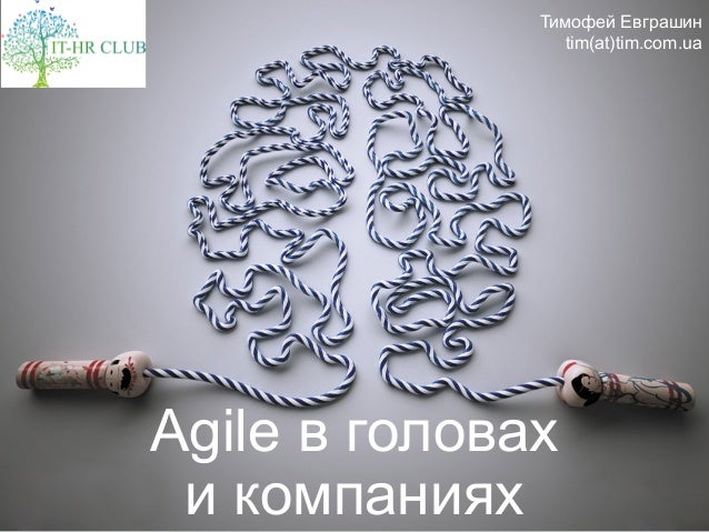 Agile в головах и компаниях Тимофей Евграшин tim(at)tim.com.ua