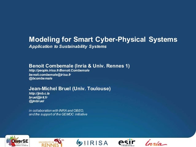 Benoit Combemale (Inria & Univ. Rennes 1) http://people.irisa.fr/Benoit.Combemale benoit.combemale@irisa.fr @bcombemale Je...