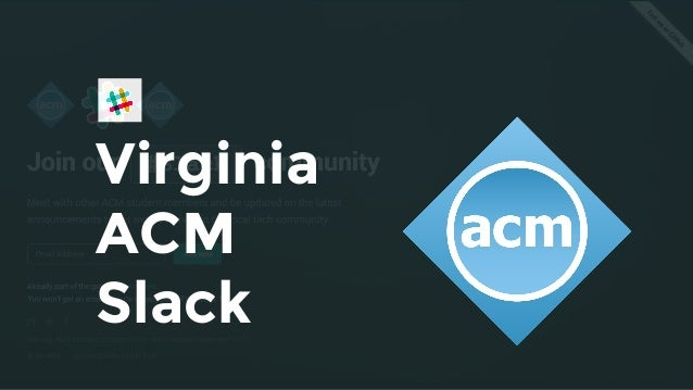 Virginia ACM Slack