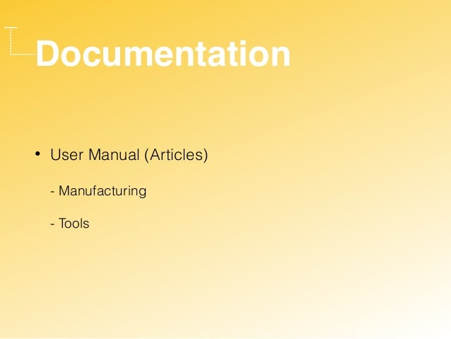 Documentation • User Manual (Articles)  - Manufacturing  - Tools
