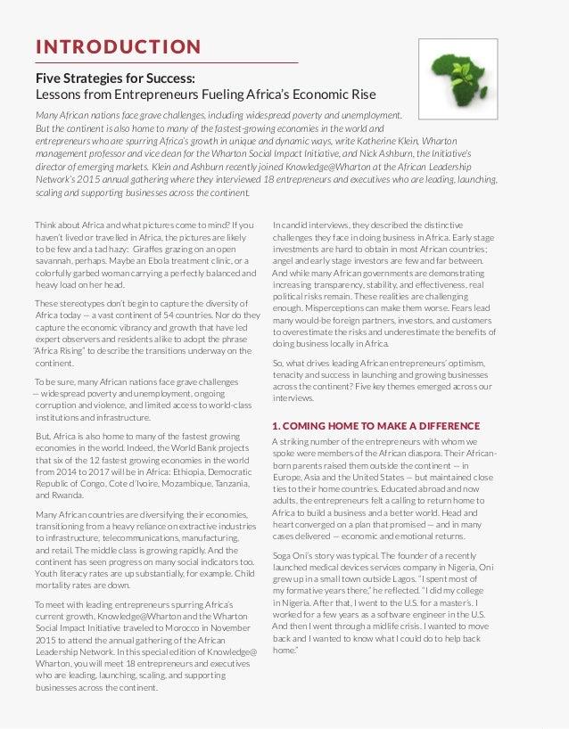 The Entrepreneurs Spurring Africa's Rise Slide 3