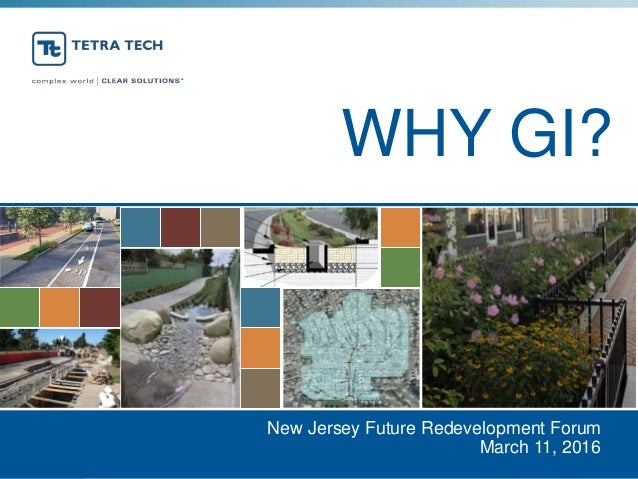 WHY GI? New Jersey Future Redevelopment Forum March 11, 2016