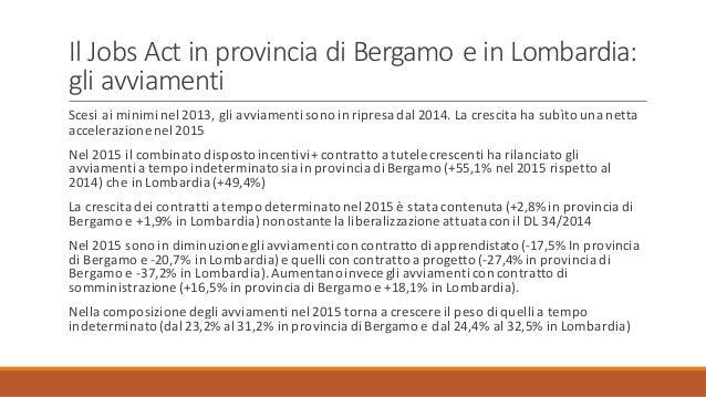 2016 03 16 lavoro in corso attuazione del jobs act e for Offerte lavoro bergamo subito