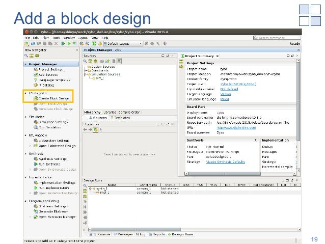 Add a block design Shinya T-Y, NAIST 19