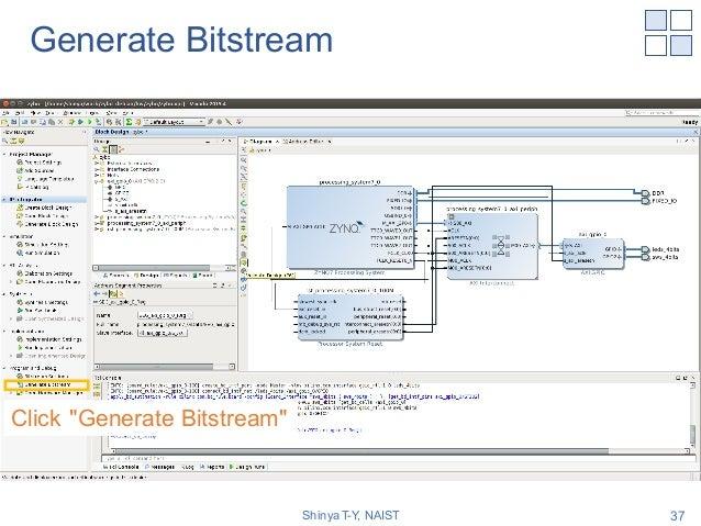 """Generate Bitstream Shinya T-Y, NAIST 37 Click """"Generate Bitstream"""""""