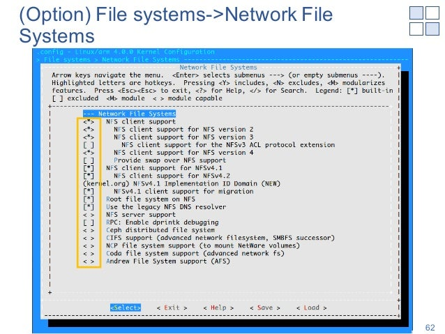 (Option) File systems->Network File Systems Shinya T-Y, NAIST 62