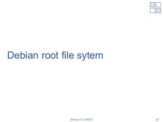 Debian root file sytem Shinya T-Y, NAIST 67
