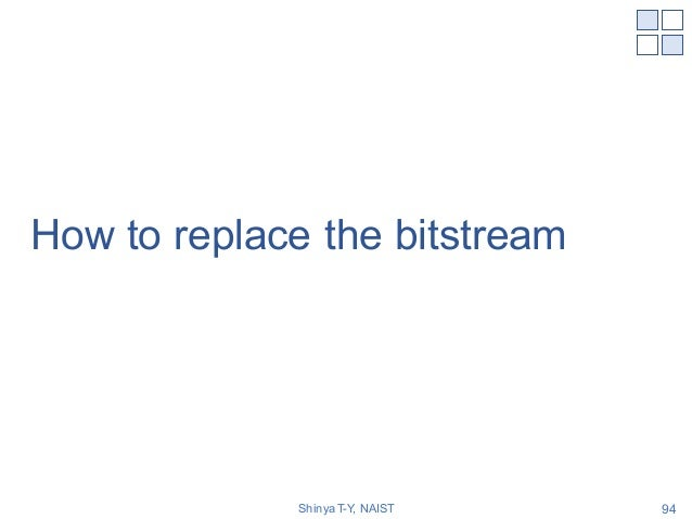 How to replace the bitstream Shinya T-Y, NAIST 94