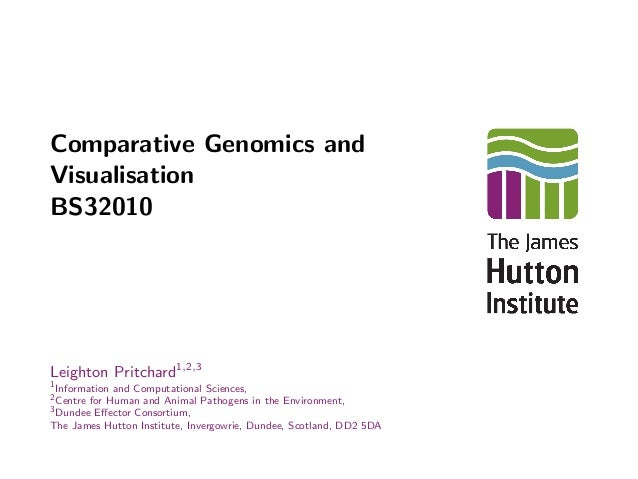 comparative genomics and visualisation bs32010