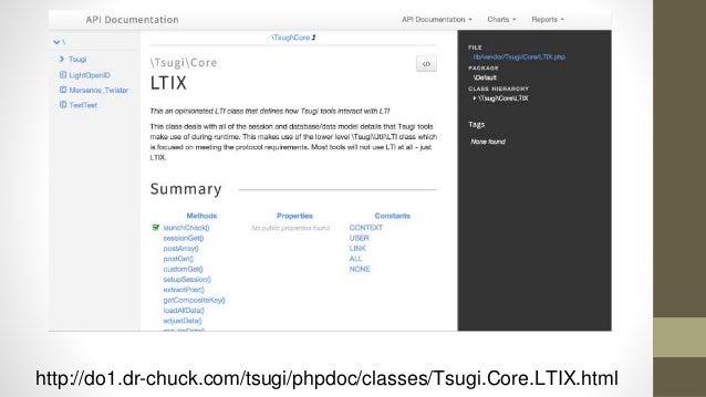 Tsugi Tools To Date • App Store • Google Class Map • GIFT Quiz Engine • Grade book • Attendance Tool • Video Tracker (*) •...
