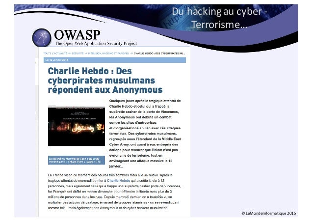 Du  hacking  au  cyber  -‐ Terrorisme… ©  LeMondeInformatique 2015