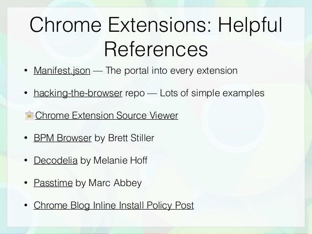 Chrome Extensions at Manhattan JS