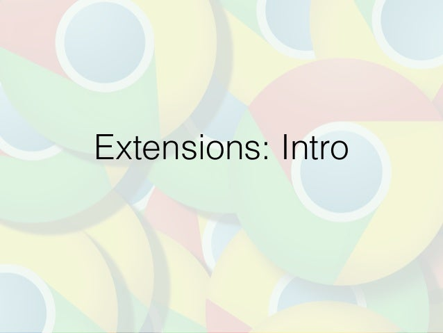 Extensions: Intro