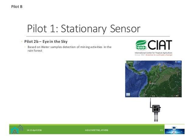Pilot1:StationarySensor ◦ Pilot2b– EyeintheSky ◦ BasedonWatersamplesdetectionofminingactivitiesinthe rai...