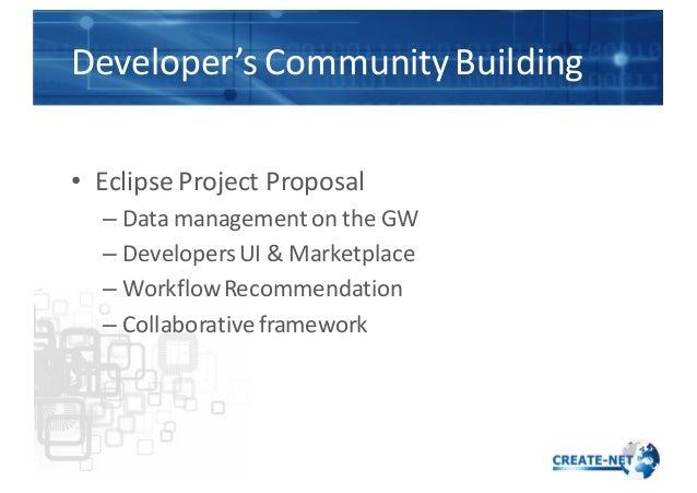 Developer's  Community  Building • Eclipse  Project  Proposal – Data  management  on  the  GW – Developers...
