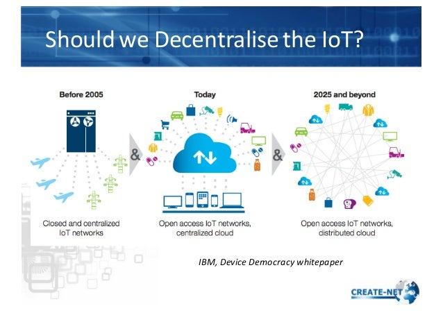 Should  we  Decentralise  the  IoT? IBM,  Device  Democracy  whitepaper