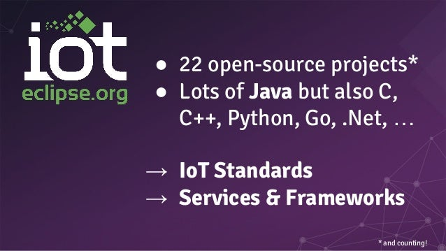 ● CoAP ○ « HTTP over UDP » ○ Expose your device as a resource on the Internet of Things ● MQTT ○ Publish/Subscribe model ○...