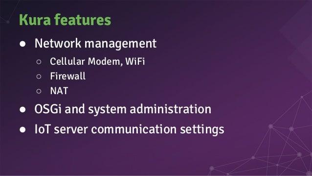 Kura features: Remote management UI