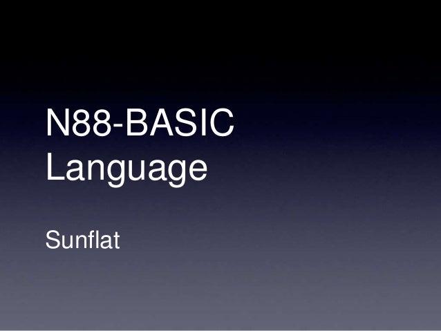 N88-BASIC Language Sunflat