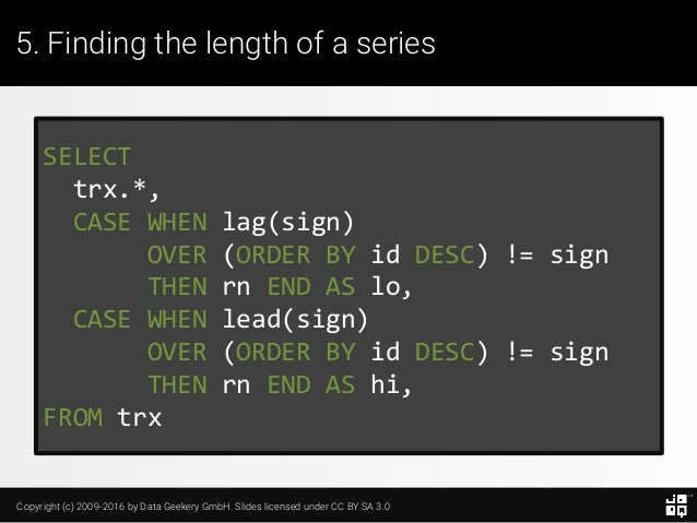 10 SQL Tricks that You Didn't Think Were Possible Slide 123