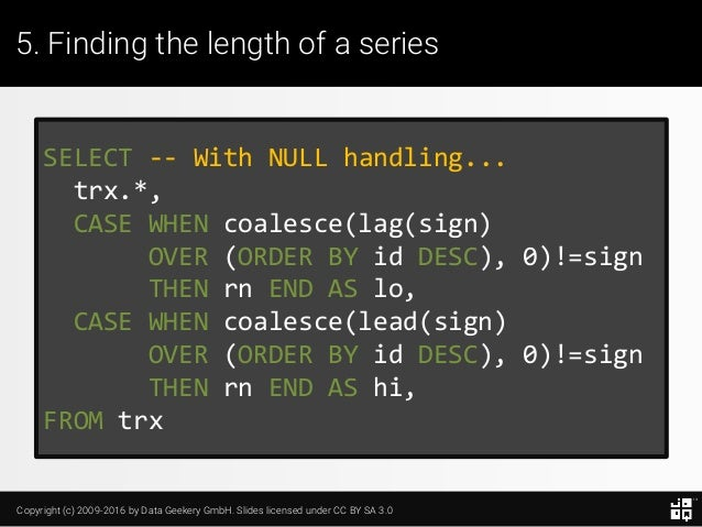 10 SQL Tricks that You Didn't Think Were Possible Slide 124