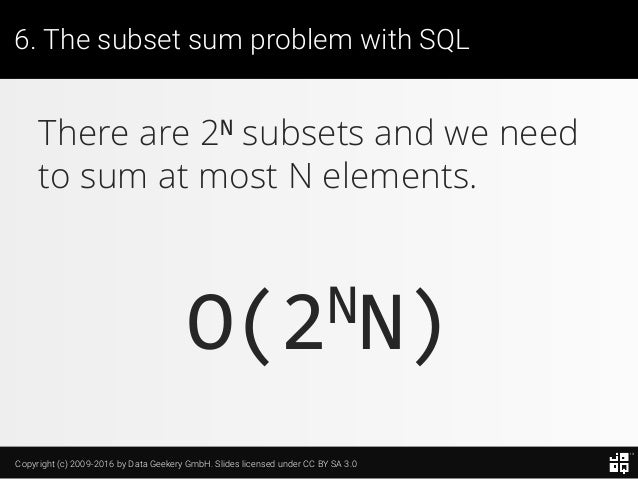 10 SQL Tricks that You Didn't Think Were Possible Slide 144