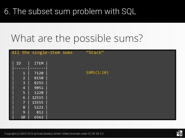 10 SQL Tricks that You Didn't Think Were Possible Slide 147