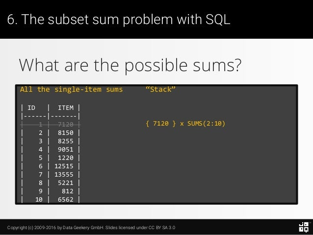 10 SQL Tricks that You Didn't Think Were Possible Slide 148