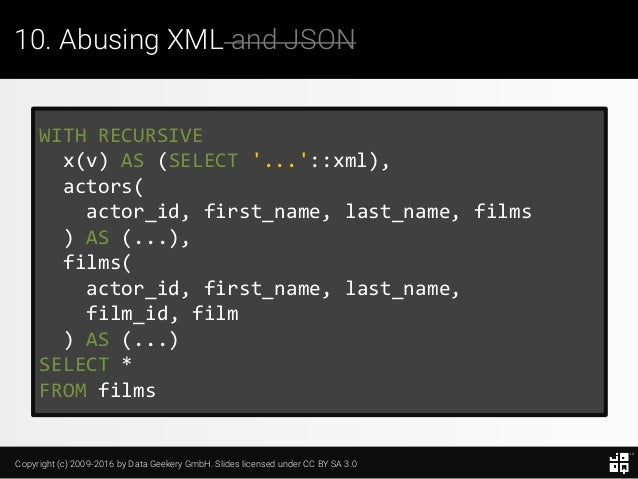 10 SQL Tricks that You Didn't Think Were Possible Slide 239