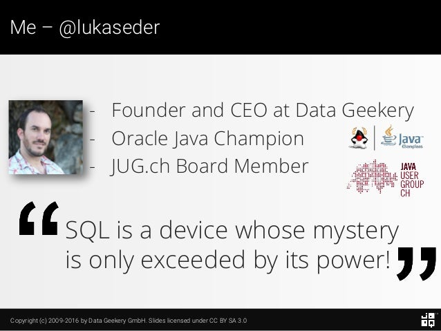 10 SQL Tricks that You Didn't Think Were Possible Slide 4