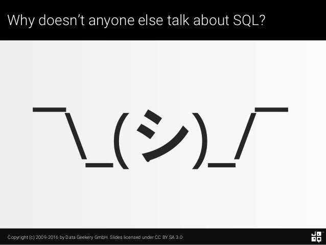 10 SQL Tricks that You Didn't Think Were Possible Slide 7
